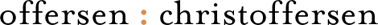 offersen : christoffersen logo
